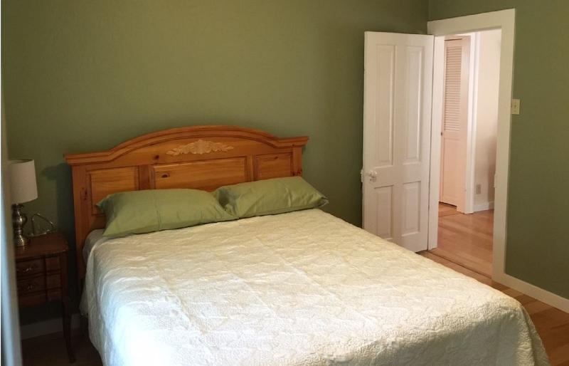 Second bedroom - green and serene.