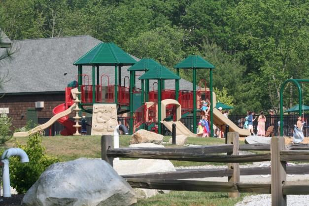 Kids love the playground near the heated, outdoor family pool. Tennis/Basketball  courts next door.