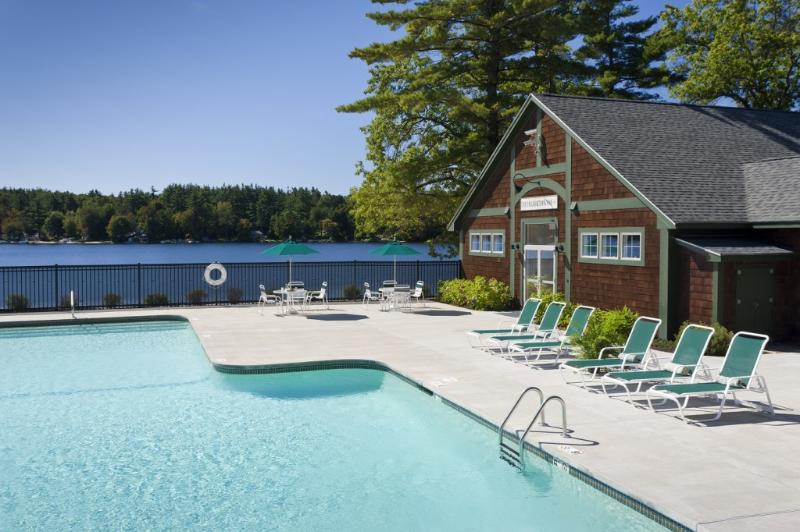 Adults only pool and fitness center overlooking the Pond