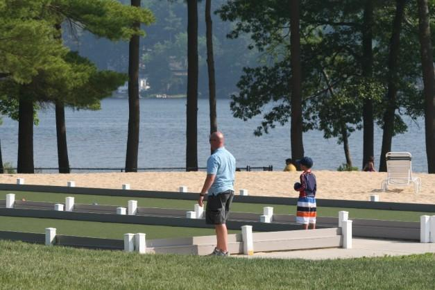 Bocce courts by the beach. Shuffleboard too.. Canoes/kayaks available as well.