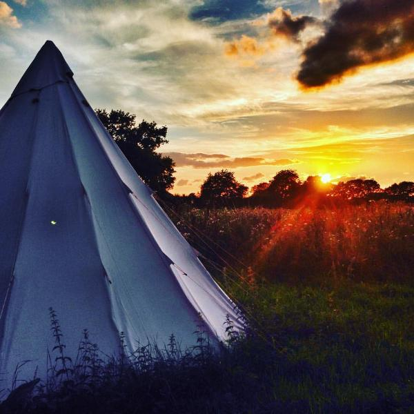 Stay in a SoulPad Tipi (now on decking) overlooking fields add an activity