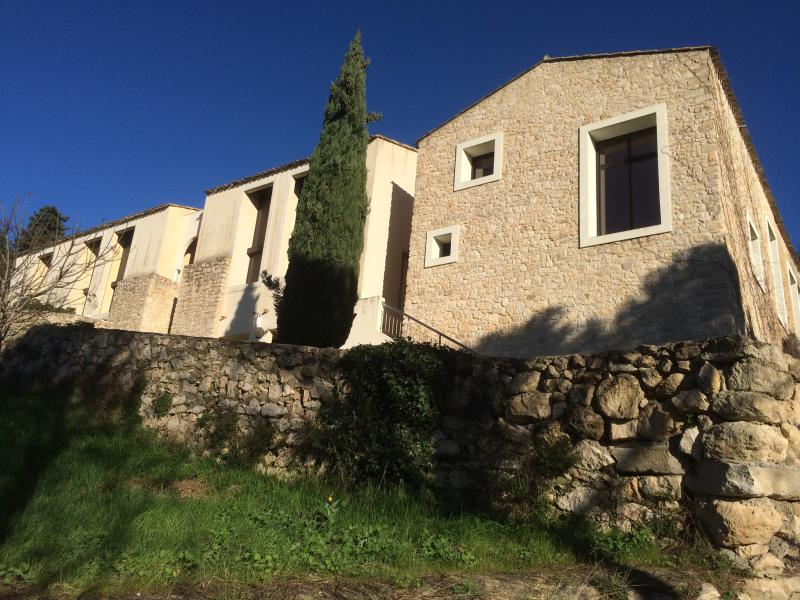 The imposing facade of the apartments at Mas de Fournel