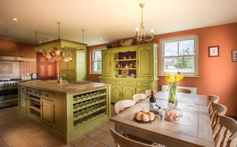 Fabulous French style kitchen - the heart of this beautiful house. Opens out onto the private patio.