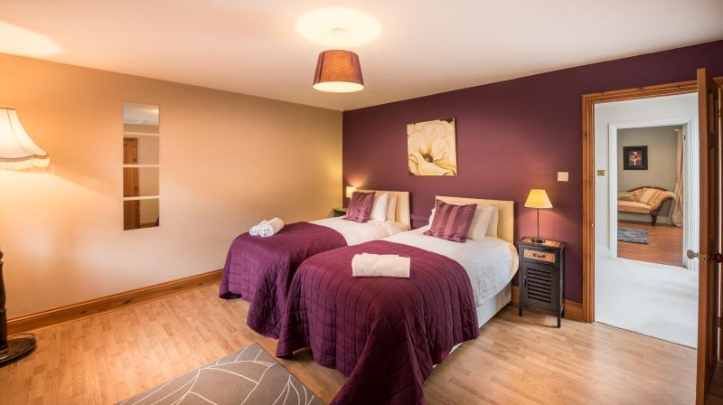 Another lovely, spacious bedroom with super-comfortable beds, made up as 2 singles or a double.