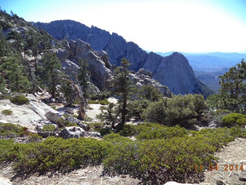 Hiking up behind the peak