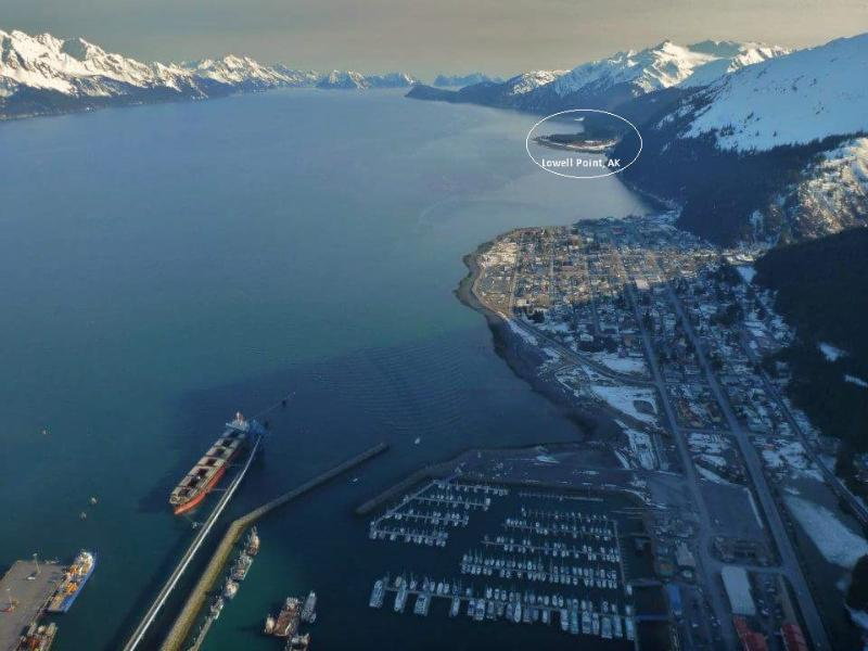 Lowell Point is about 3 miles south of Seward, AK and is in the circle.
