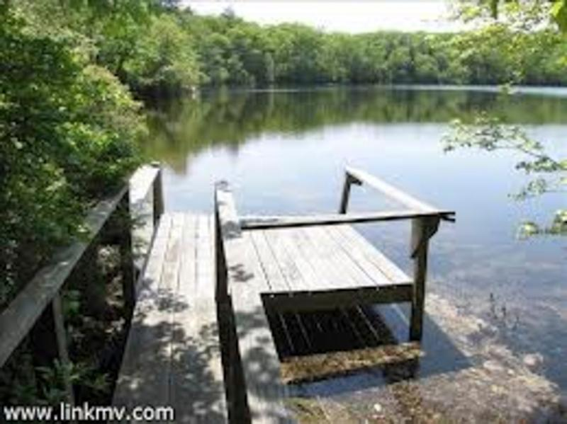 private dock on Ice House Pond
