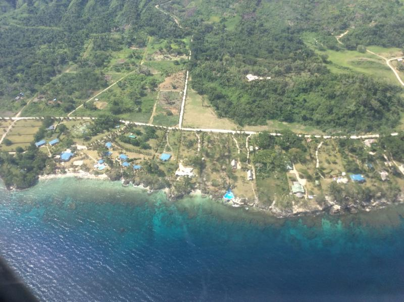 Aerial photo taken when flying over our villa Virgin Airline