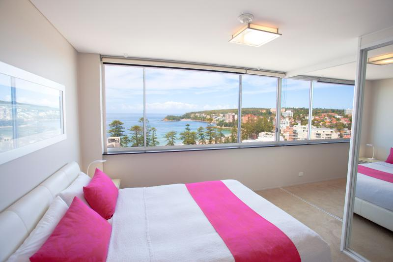Panoramic views even from queen size bed!