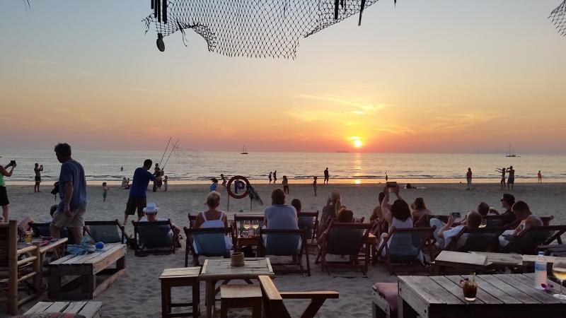 Sunset on Klong Dao (1st beach North of Long Beach)