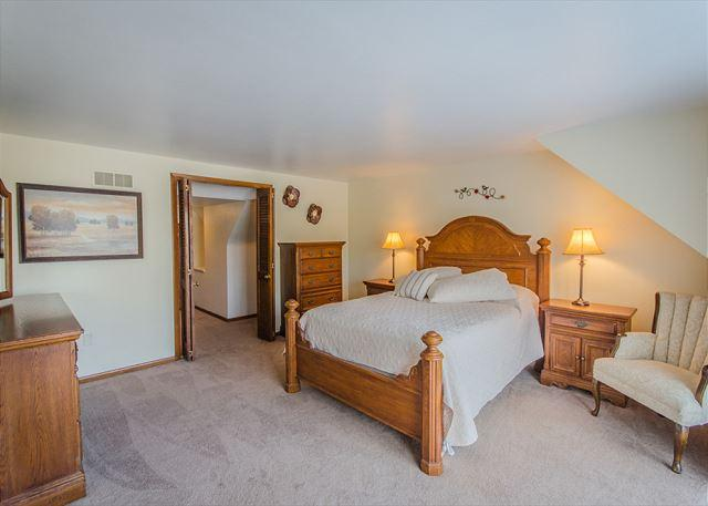 Master Bedroom located on 2nd floor with magnificent queen bed e