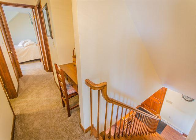 Hallway leading from master bedroom to 2nd floor bathroom, readi