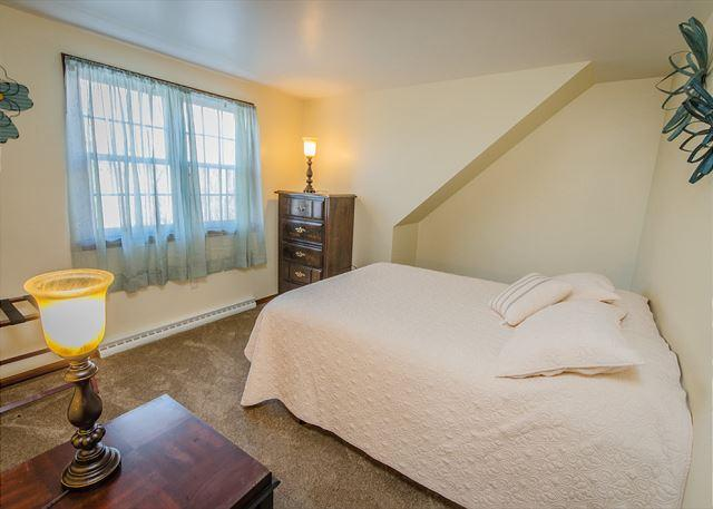 2nd Floor Bedroom 1 with queen bed and amazing view of the prope