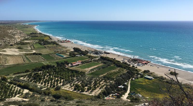 Kourion/ Curium Beach, stunning and steeped in ancient history, only half an hour's drive away