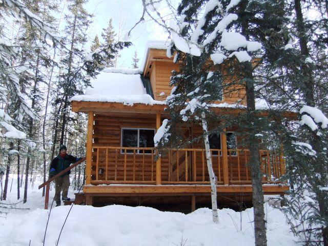 Aurora Forest Cabin in the winter