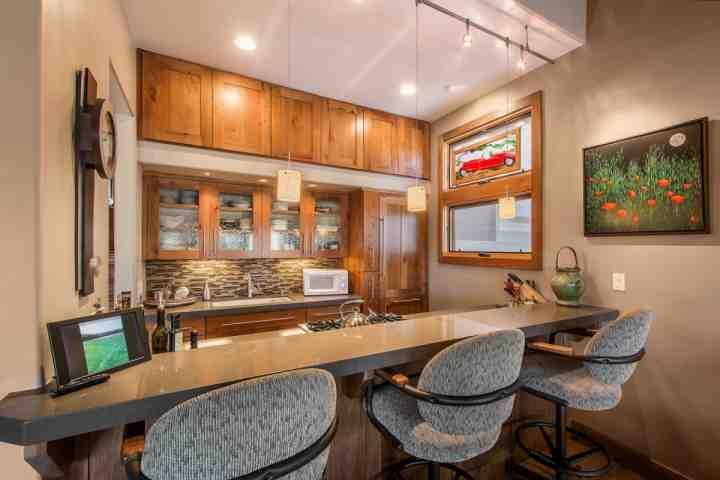 sièges comptoir de cuisine.