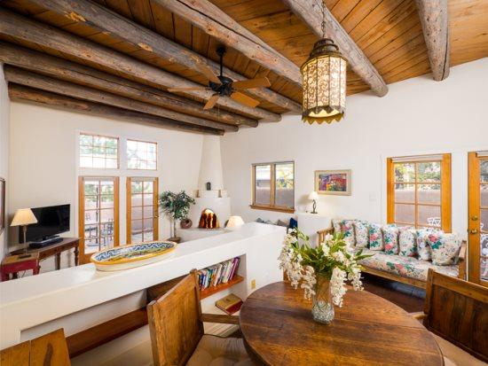 Old Santa Fe Trail with high ceiling and spacious living area