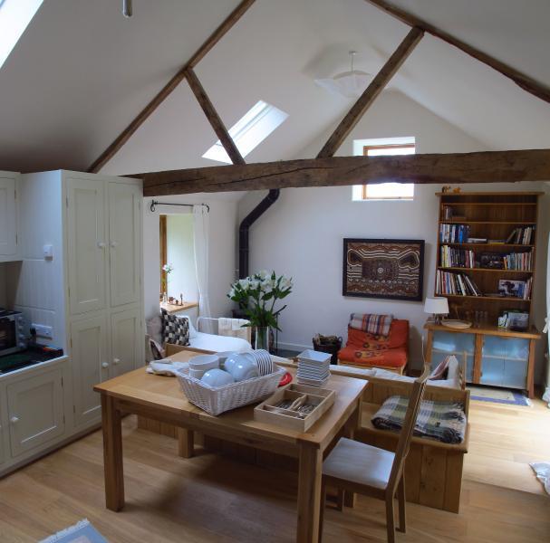 Lower Barn dinging area and studio