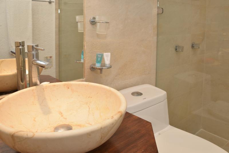stylish ensuite master bathroom