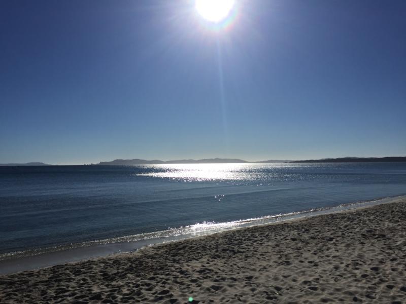 Closest beach (less than 1 min by walk)