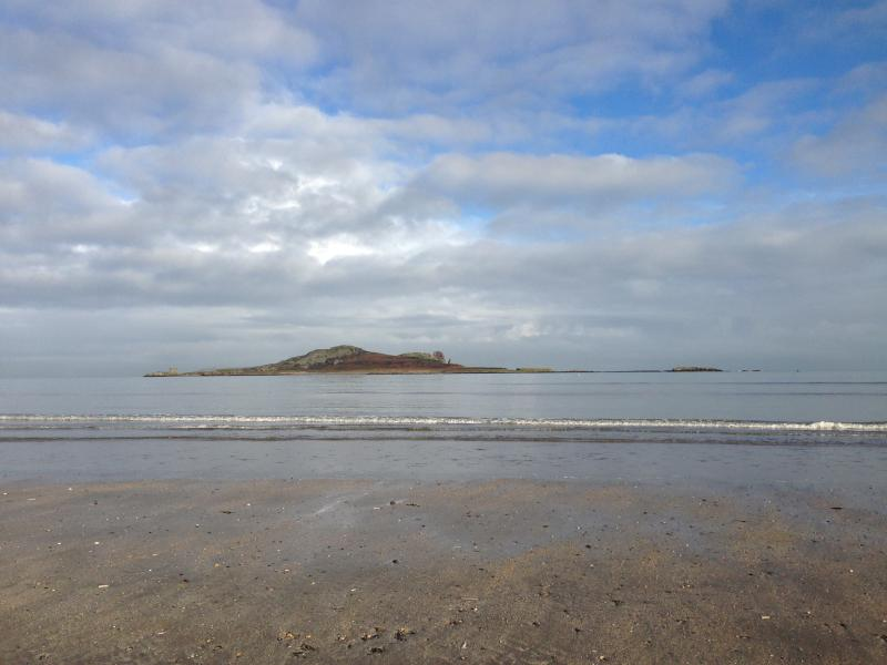 Ireland's Eye viewed from Claremont Beach
