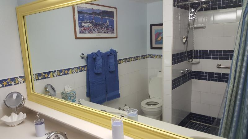 Our bathroom with double sinks