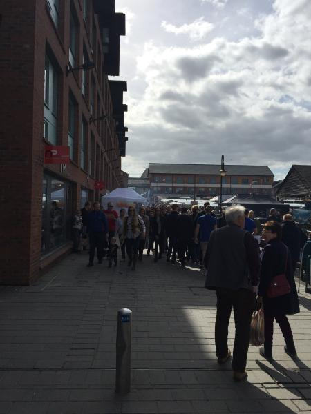 one of the many busy events held at the Gloucester docks