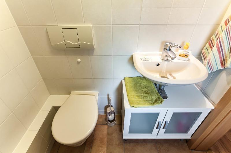 gescheiden Toilette