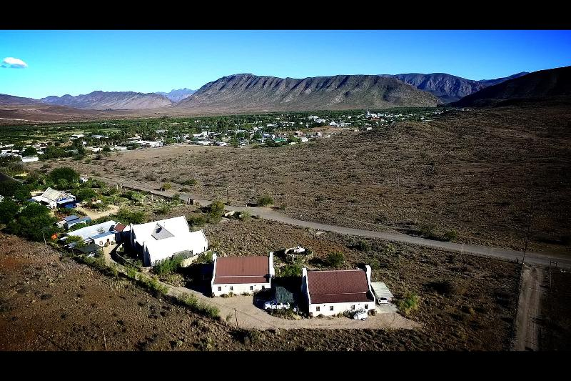 Aerial view of Karoo View Cottages & 3 bedroom house with magnificent views
