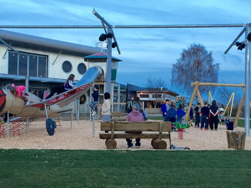 New enlarged clubhouse and childrens play area