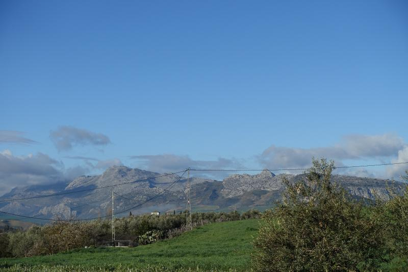 Views to the west of the mountains of the Sierras de Grazalema.