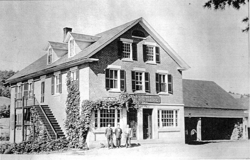 The Strafford Brick Store in the 19th century.