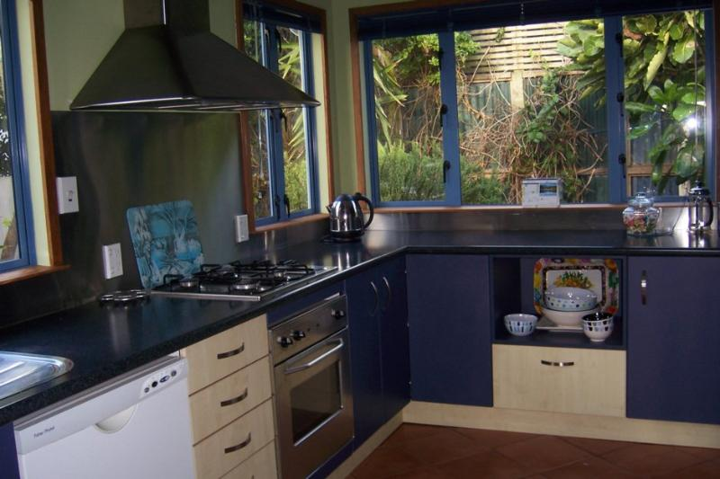 The kitchen has everything you need - microwave, dishwasher, fridge/freezer and oven.