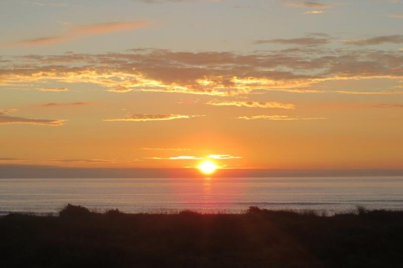 Sunset is brilliant, look out to Kapiti Island as the day ends.