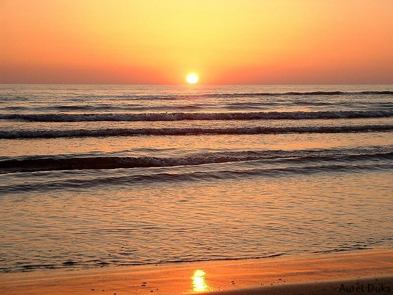 Sunset in the belonging beach!