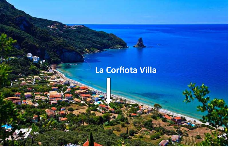 Location of la Corfiota Villa House