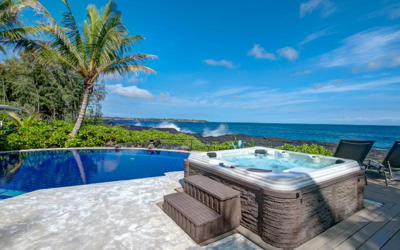 This fabulous oceanfront home with pool and spa!  Views!
