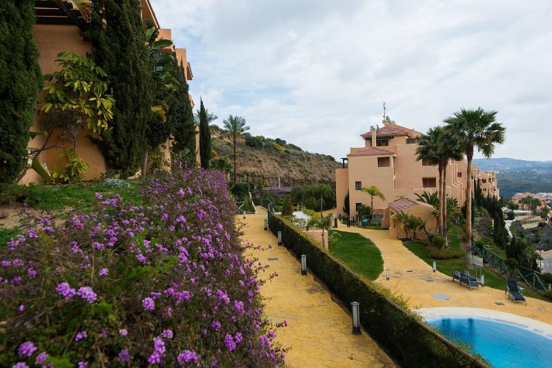 Gardens around the pools