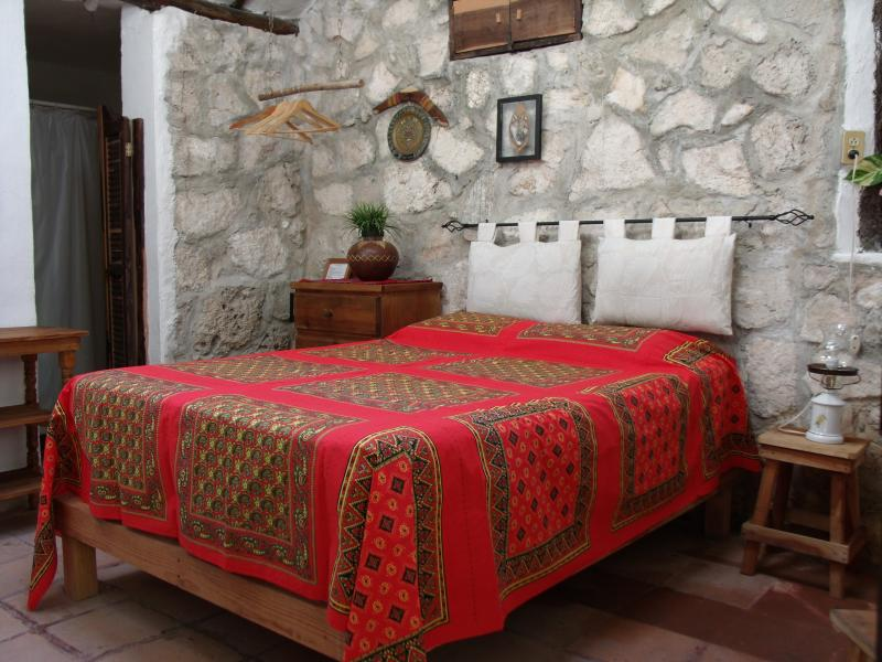Room #2 at Casitas Kinsol Guest House -  A small room with one double size bed with a private bath -