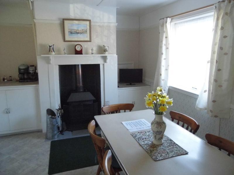 dining room with wood-burner, ground floor