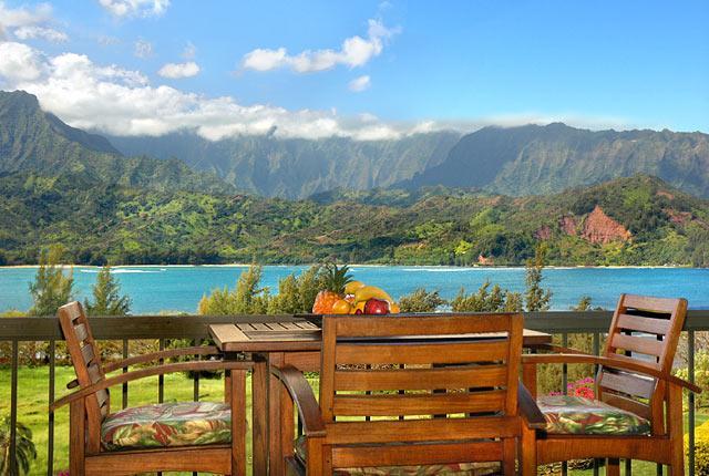 Hanalei Bay View from lanai