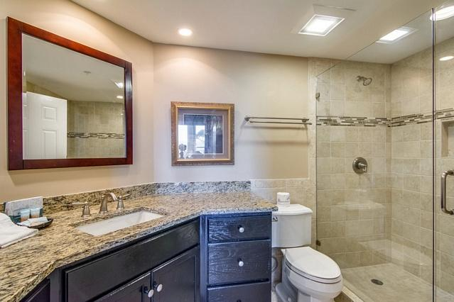 Luxury Guest Bath with Huge Glass Shower