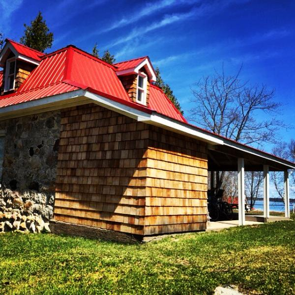 Built in 1879 the Island Stone House is one of the original homes in Richards Landing.