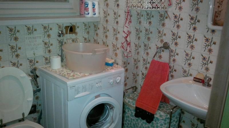 Bagno di servizio con lavatrice