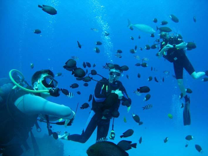 DEEP DIVING with Atlantis International Diving services in Trou aux Biches