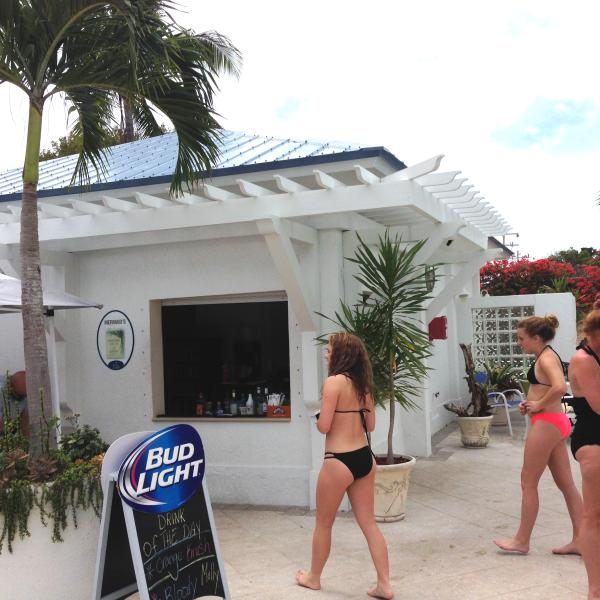 Our pool patio bar - Boat drinks anyone?