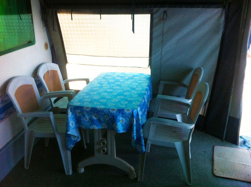 The inside dinning table