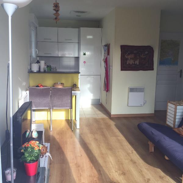 View keuken en woonkamer