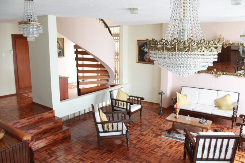 The house is classic, with beautiful floors and furnishings.