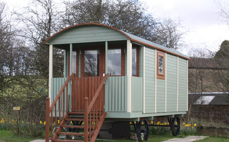 This is our beautiful Shepherd's Hut